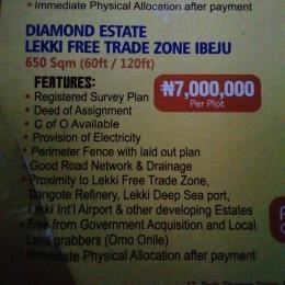 Serviced Residential Land Land for sale Diamond Estate Lekki Free Trade Zone  Free Trade Zone Ibeju-Lekki Lagos