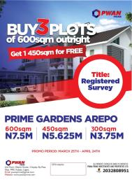 Residential Land Land for sale 10 minutes drive from Ojodu Berger.  Berger Ojodu Lagos