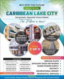 Residential Land for sale Caribbean Lake City Opposite Crown Estate Lekki, Lagos Sangotedo Ajah Lagos
