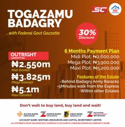 Residential Land Land for sale Togazmu  Badagry Badagry Lagos