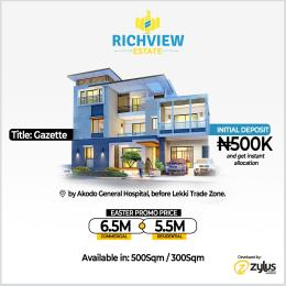 Mixed   Use Land Land for sale Akodo General hospital before Lekki Trade zone  Akodo Ise Ibeju-Lekki Lagos