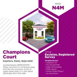 Residential Land Land for sale Located Behind Amen Phase 1 Kayetoro Eleko Ibeju Lekki Lagos Eleko Ibeju-Lekki Lagos