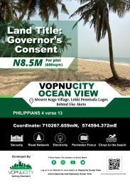 Serviced Residential Land Land for sale Ocean View Estate Mosere Kogo Village Lekki Peninsula Ajah Lagos