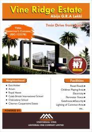 Serviced Residential Land for sale *street/road:* The Vine Ridge Estate Abijo Gra Ajah Lagos Abijo Ajah Lagos