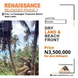 Residential Land for sale Folu By La Campaigne Tropicana Beach Resort LaCampaigne Tropicana Ibeju-Lekki Lagos
