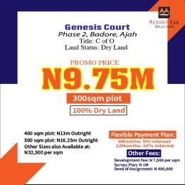 Residential Land for sale Genesis Court Phase2. Badore Ajah Lagos