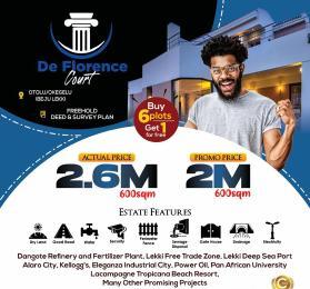 Residential Land for sale De Florence Court, Otoolu Before La Campaign Tropicana Beach Ogogoro Ibeju-Lekki Lagos