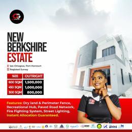 Land for sale New Berkshire Estate, Ipo-omagwa, port harcourt. Port Harcourt Rivers