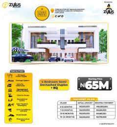 Semi Detached Duplex for sale Ajiwe Bustop Abraham adesanya estate Ajah Lagos