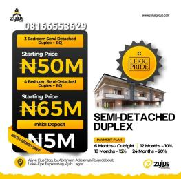 Semi Detached Duplex House for sale Abraham adesanya estate Ajah Lagos