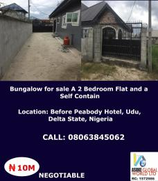 2 bedroom Detached Bungalow House for sale Before Peabody hotel ,Udu warri Delta state Nigeria Warri Delta