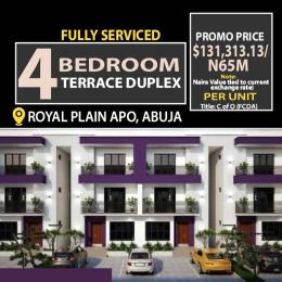 4 bedroom Terraced Duplex for sale 5min Before Apo Shorite Apo Abuja