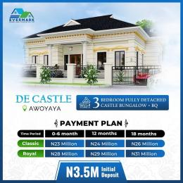 Detached Bungalow for sale De Castle, Oribanwa Bus Stoo, Awoyaya Awoyaya Ajah Lagos