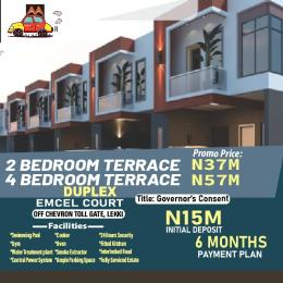 2 bedroom Terraced Duplex for sale Emcel Estate, Orchid Close To Chevron Tollgate. Lekki Lagos