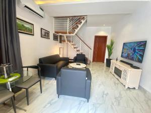 2 bedroom Semi Detached Duplex for shortlet Olusesi Conservation Road Chevron, Lekki Expressway, Lekki, Lagos. chevron Lekki Lagos