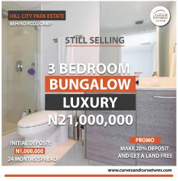 3 bedroom Detached Bungalow House for sale Off Simawa Road After RCCG New Auditorium Mowe Obafemi Owode Ogun