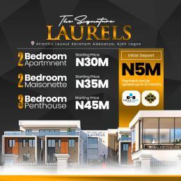3 bedroom Penthouse Flat / Apartment for sale The Signature Laurels, Atlantic Layout Estate Abraham adesanya estate Ajah Lagos