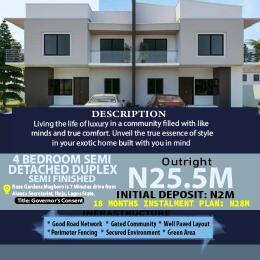 4 bedroom Semi Detached Duplex House for sale 5mins Drive From Journalist Estate, Magboro Arepo Arepo Ogun