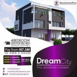 4 bedroom Semi Detached Duplex for sale Dream City, Along Abraham Adesanya Abraham adesanya estate Ajah Lagos