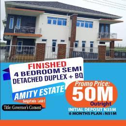 4 bedroom Semi Detached Duplex House for sale Right Inside Amity Estate, 3Mins Drive From Shoprite. Majek Sangotedo Lagos