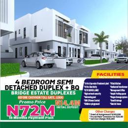 4 bedroom Semi Detached Duplex for sale Bridge Estate Before Chevron Tollgate. chevron Lekki Lagos