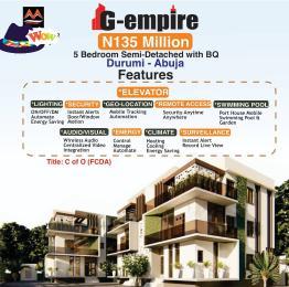 5 bedroom Semi Detached Duplex House for sale G Empire Garden Durumi Abuja