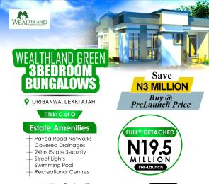 3 bedroom Detached Bungalow House for sale Wealthland Green Estate Oribanwa,  Ajah Lagos