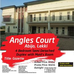 4 bedroom Semi Detached Duplex House for sale Angles Court, Few Minutes From Shoprite. Abijo Ajah Lagos