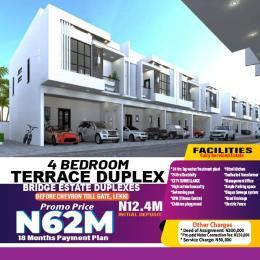 4 bedroom Terraced Duplex for sale Bridge Estate Before Chevron Tollgate. chevron Lekki Lagos