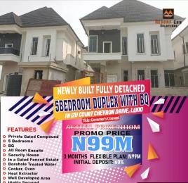 5 bedroom Detached Duplex House for sale Izu Court.  chevron Lekki Lagos
