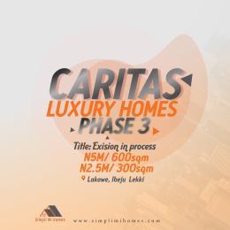 Residential Land for sale Caritas Luxury Homes Phase 3 Beside Lakowe Golf Course Lakowe Ajah Lagos