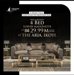 4 bedroom Massionette House for sale Royal Palms Drive Osborne Foreshore Estate Ikoyi Lagos