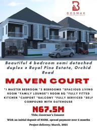 4 bedroom Semi Detached Duplex for sale Royal Pine Estate, Orchid Road, Chevron Toll Gate Ikota Lekki Lagos