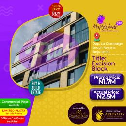 Mixed   Use Land Land for sale Maplewoods Plus is opposite La Campagne Tropicana beach resort, covered with excision block title  LaCampaigne Tropicana Ibeju-Lekki Lagos