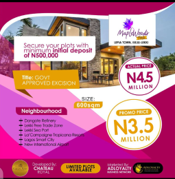 Residential Land for sale Lepia Town LaCampaigne Tropicana Ibeju-Lekki Lagos