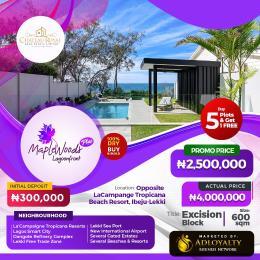 Residential Land for sale Opp La'campaigne Tropicana Beach Resort, LaCampaigne Tropicana Ibeju-Lekki Lagos