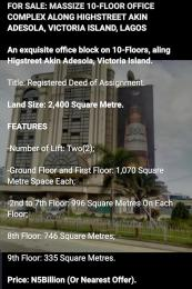Commercial Property for sale Along Highstreet, Akin Adesola Victoria Island Lagos