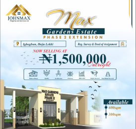 Residential Land Land for sale Igbogbun Ibeju-Lekki Lagos