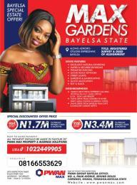 Serviced Residential Land for sale Yenegoa Bayelsa