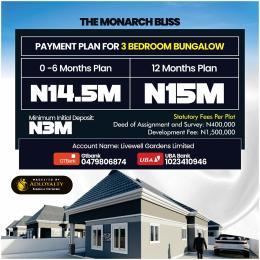 3 bedroom Detached Bungalow for sale Beside Rccg Youth Church), Few Minutes Off Lagos Ibadan Expressway Mowe Obafemi Owode Ogun