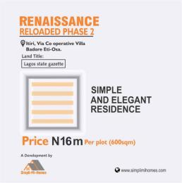 Residential Land for sale Itiri/ Co Operative Villa, Badore, Opposite Blenco Supermarket, Sangotedo Ajah Lagos Sangotedo Ajah Lagos