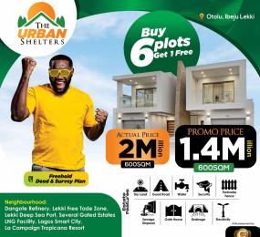 Mixed   Use Land for sale Urban Shelters Estate Otolu Free Trade Zone Ibeju-Lekki Lagos