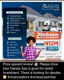2 bedroom Detached Bungalow House for sale Oasis Bungalows, Poka. Perfect Rental Property.  Epe Lagos