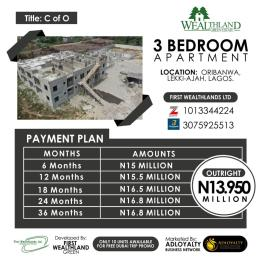3 bedroom Blocks of Flats House for sale Oribanwa Lekki-Ajah  Oribanwa Ibeju-Lekki Lagos