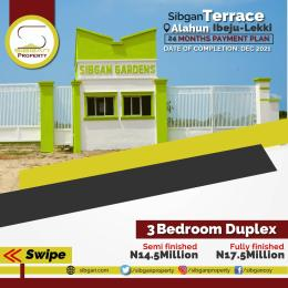 3 bedroom Terraced Duplex House for sale Sibgan gardens Ibeju-Lekki Lagos