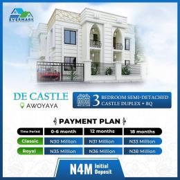 3 bedroom Semi Detached Duplex for sale De Castle Estate Oribanwa Bus Stop, Awoyaya Ajah Lagos Awoyaya Ajah Lagos
