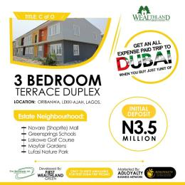3 bedroom Terraced Duplex House for sale Wealth Land Green Road Oribanwa Ibeju-Lekki Lagos