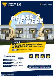 4 bedroom Semi Detached Duplex House for sale Richland gardens, Bogije Eleko Ibeju-Lekki Lagos
