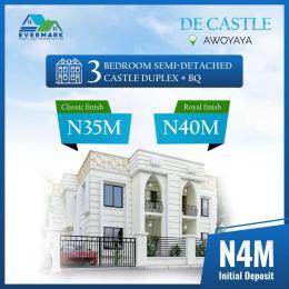 3 bedroom Semi Detached Duplex House for sale De Castle Newly Built 3 Bedroom Fully Detached Duplexes In Orinanwa Bustop, 2mins Drive From Mayfair Gardens Awoyaya Ajah Lagos