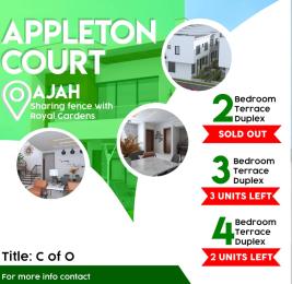 3 bedroom Terraced Duplex for sale Appleton Court By Royal Garden Lekki Epe Express Thomas estate Ajah Lagos